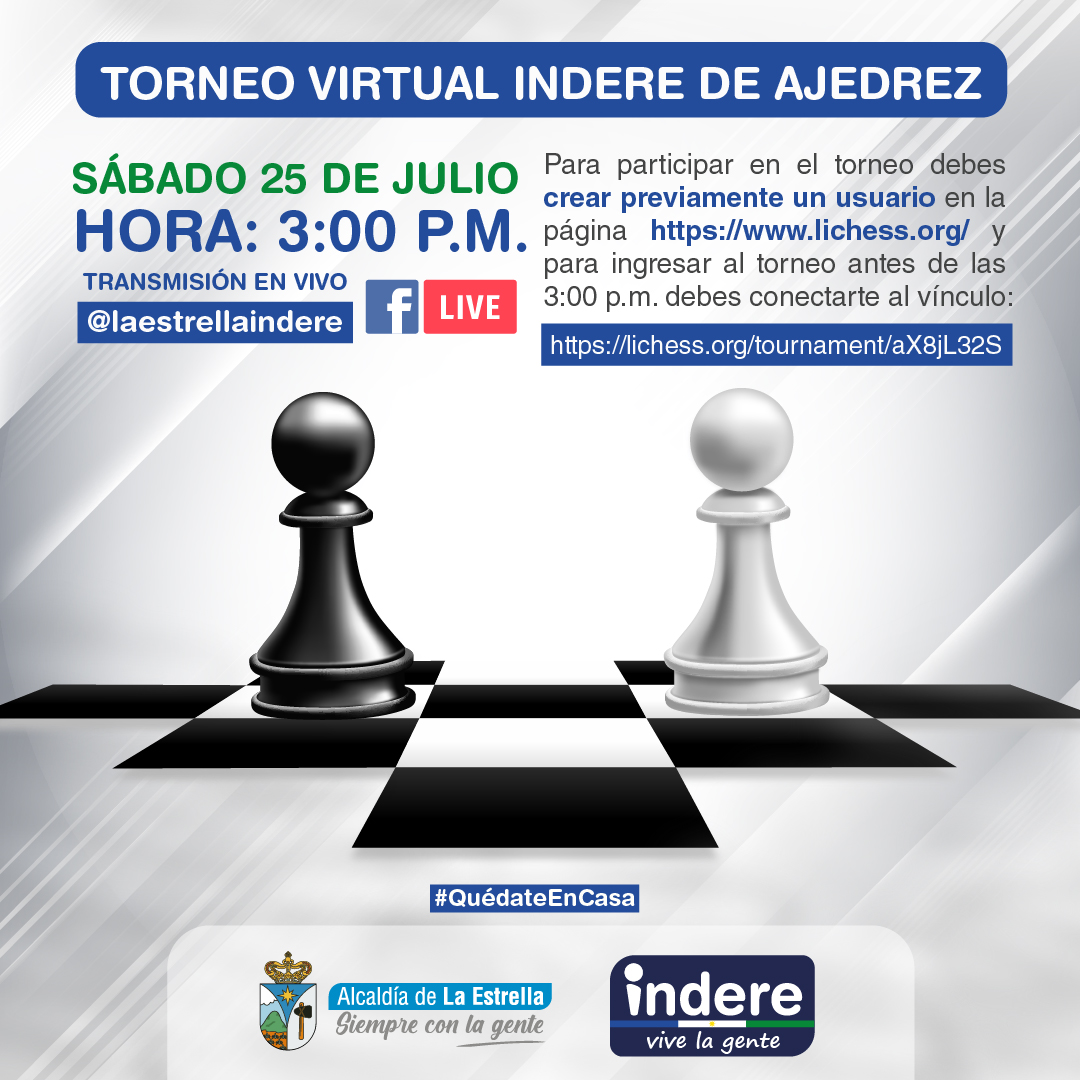 Torneo Virtual Indere de Ajedrez
