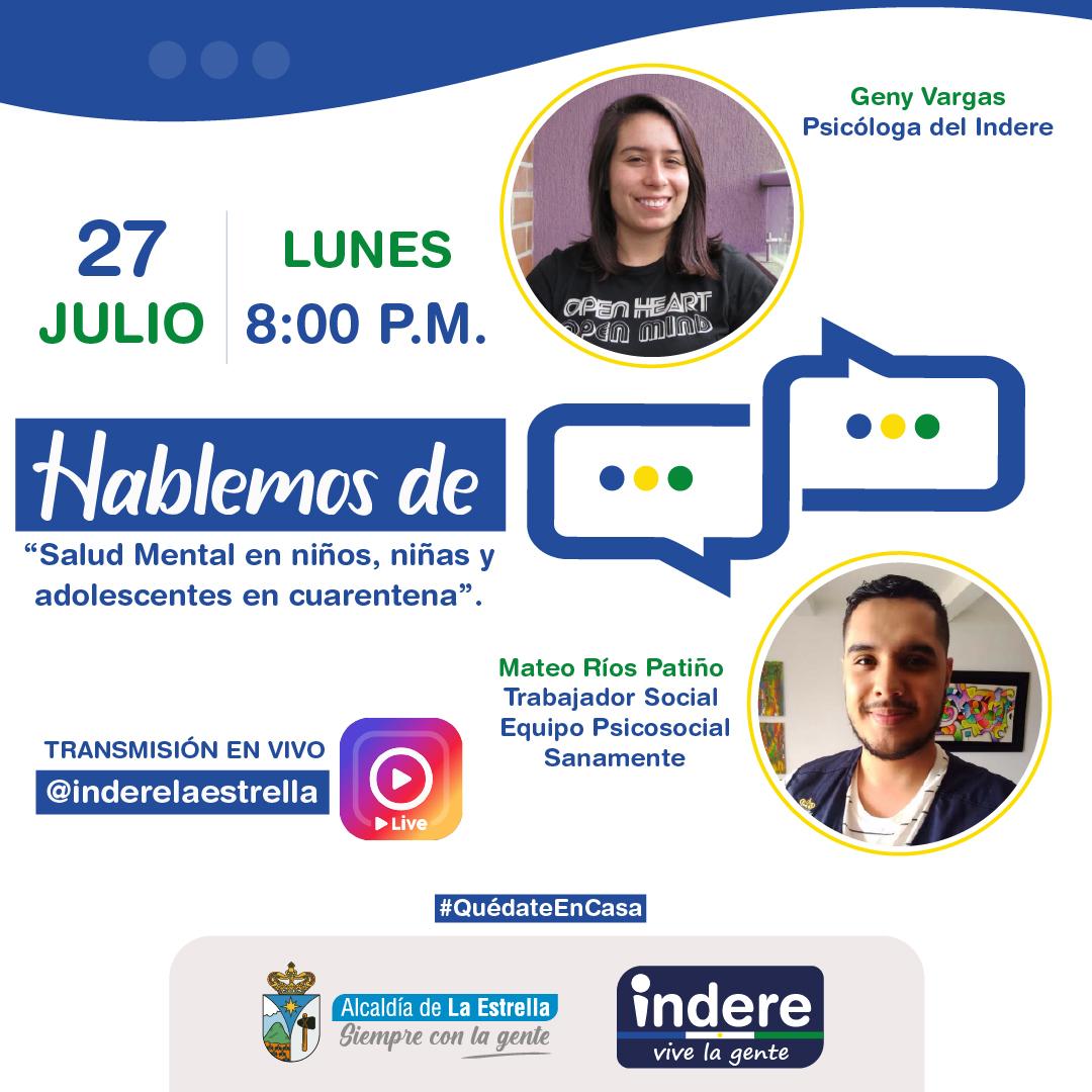 """Programa """"Hablemos de"""" Lunes 27 de julio"""