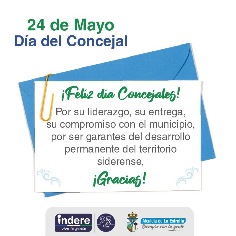 Mayo 24 Día del Concejal